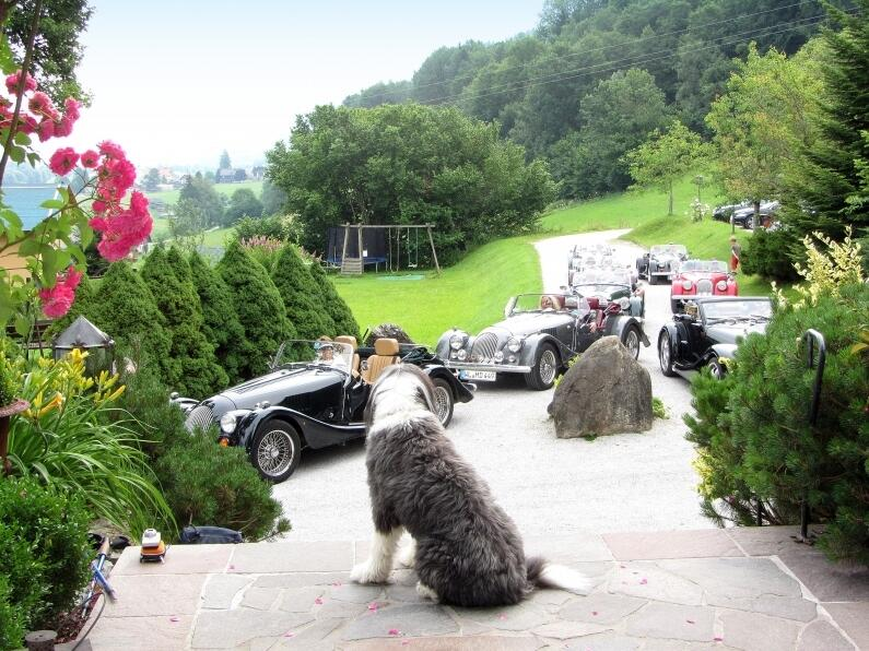 Travel with vintage cars, at Hotel Schloss Thannegg in Austria