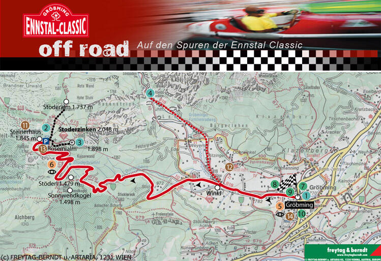 "Roadbook ""On the Routes of the Ennstal Classic"""